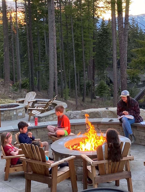 Worship around a campfire