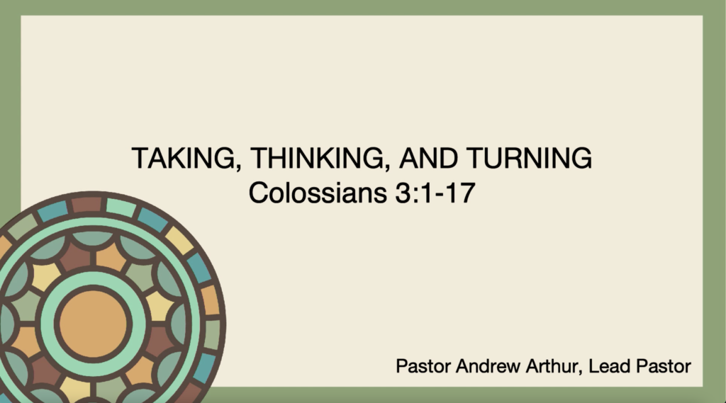 Taking In, Thinking through and Turning out the Gospel